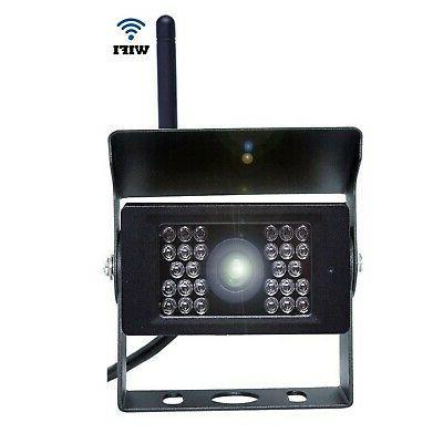 Camecho Wireless Rear Camera 12V-24V Backup 28 IRs Vision 1...