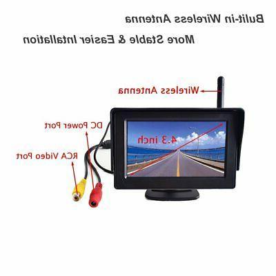 "Wireless Backup Camera 4.3"" System Windshield"