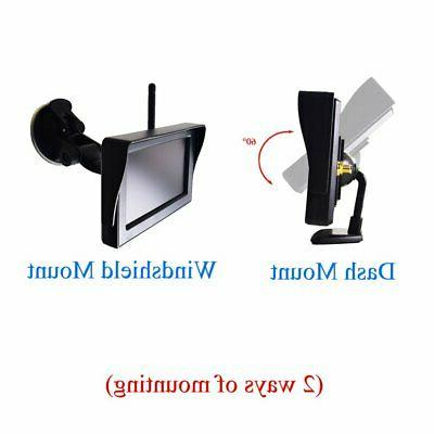 "Wireless 4.3"" Monitor Parking Windshield Suction"