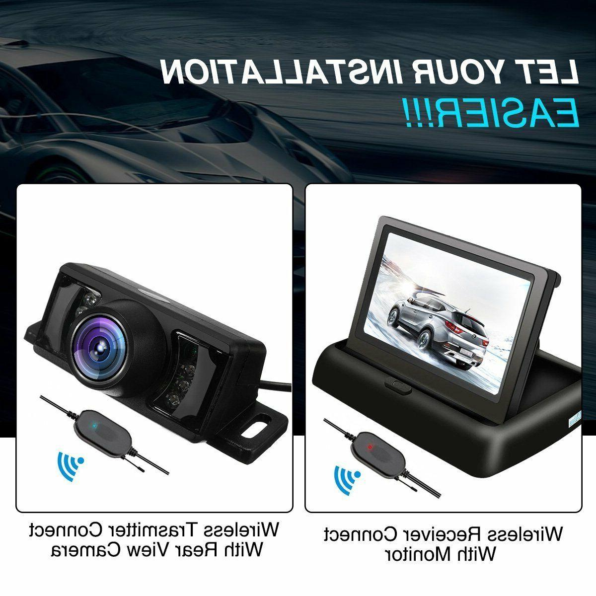 Wireless Camera and Monitor Rear View System