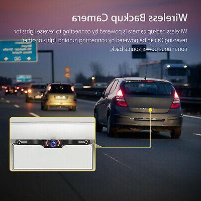 Wireless Backup Camera Monitor Kit System Vision