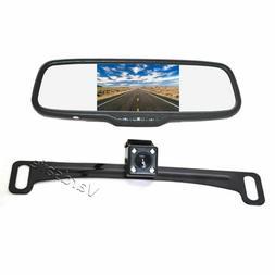 License Plate Backup Camera & Mirror Monitor for Car RV Truc