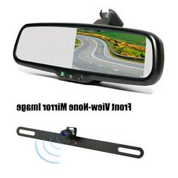 "License Plate Front Side Backup Camera &4.3"" Mirror Monitor"