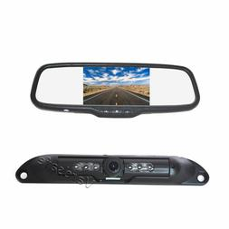 License Plate Rear View Reverse Backup Camera Kit for Car Tr