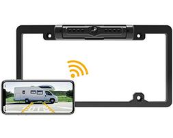 FOOKOO License Plate Wireless Backup Camera, Rear View Camer