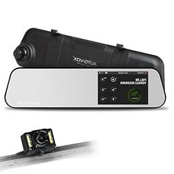 AUTO-VOX M6B 4.5''Touch Screen Backup Camera Dash Cam + IP 6