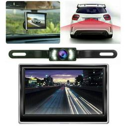 "4.3"" Backup Camera Mirror Parking System Kit Car Rear View R"