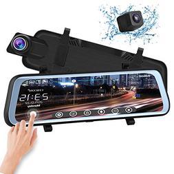 CHICOM V21 9.66 inch Mirror Dash Cam Touch Full Screen ; 108