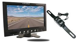TadiBrothers 7 Inch Monitor with License Plate Backup Camera