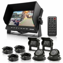 "Multi-Camera Monitor Video System Kit - 7"" Quad View LCD D"