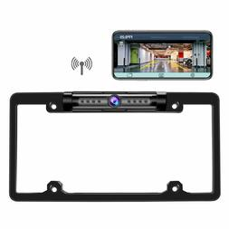 Digital Wireless Car Rear View Backup License Plate Frame Ca