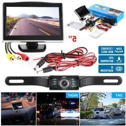 """Night Vision Car Backup Camera Rear View System + 5"""" TFT LCD"""