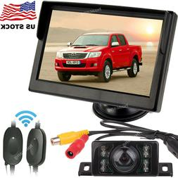 """Pickup Truck Wireless Kit Rear View 5"""" Car Monitor and Rever"""