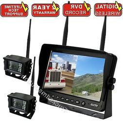 """9"""" REAR VIEW BACKUP CAMERA SYSTEM CCTV FOR SKID STEER,RV, FO"""