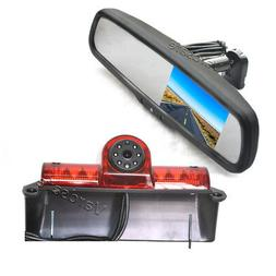Rear View Reverse Backup Camera & Replacement Mirror Monitor