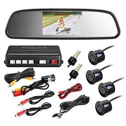 Rearview Mirror Monitor Video Parking Sensor Kit,Car Reverse