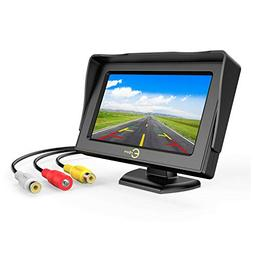 Car Rear View Backup Monitor,Esky 4.3 Inch TFT LCD Color Dis
