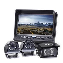 "7"" TFT LCD Color Rear View Camera System with Side Cameras"