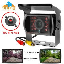 Truck Backup Camera Heavy Duty 18 LED IR Night Vision Waterp