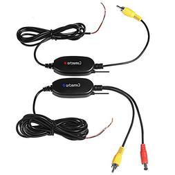 Camecho Updated 12V/24V Wireless Color Video Transmitter & R