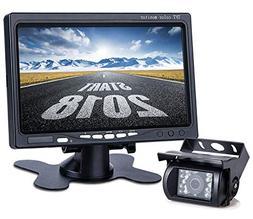 Upgrade Backup Camera Monitor Kit,1024X600 HD,IP69 Waterproo
