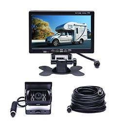 Vehicle Backup Camera 7 Inches Monitor Waterproof Rear Camer