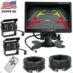 "Vehicle Backup Camera System 2 x Rear View Camera 33ft +7"" M"