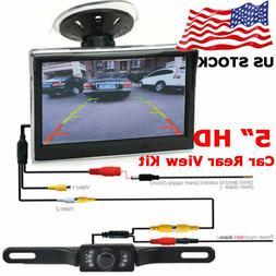 """Vehicle Waterproof Night Vision Back up Camera and 5"""" Monito"""