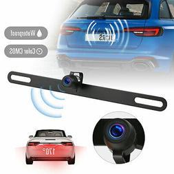 Waterproof 170° HD Car RearView Reverse Backup Camera Licen
