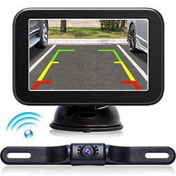 eRapta Wireless Backup Camera with Monitor System 5'' LCD Wi