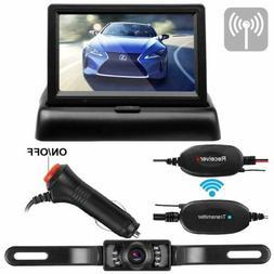 Emmako Wireless Backup Camera 4.3 Monitor Kit for Car/SUV/RV