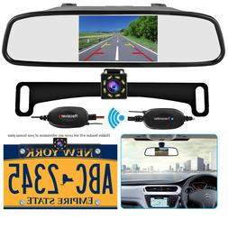 Wireless Backup Camera and 4.3'' Mirror Monitor Kit for Car