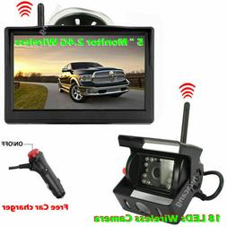 "Wireless IR Backup Camera with 5"" Monitor System for Trailer"