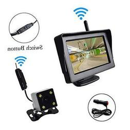 """Wireless Backup Camera and 4.3"""" Monitor Parking System Kit W"""