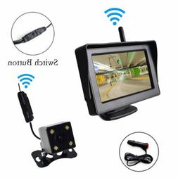 "Wireless Backup Camera and 4.3"" Monitor Parking System Winds"