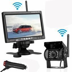 """Wireless Backup Camera and 7"""" HD Monitor Rear View Kit for 1"""