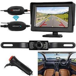 ZSMJ Wireless Backup Camera and Monitor Kit 9V-24V Rear View