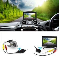 Wireless Backup Camera and Monitor Kit Vehicle Truck Van Car