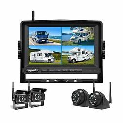 Wireless Backup Camera DVR for RV Truck Trailer Pickup with