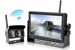 Wireless Backup Camera and Monitor Kit Reverse Rearview Cam