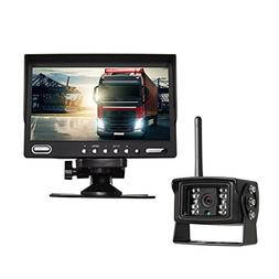 "AUTO-VOX Digital Wireless Backup Camera System Kit with 7"" H"