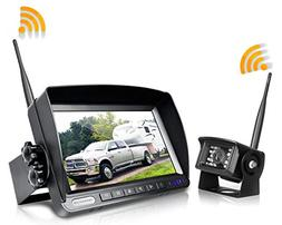 ZEROXCLUB Digital Wireless Backup Camera System Kit,No Inter
