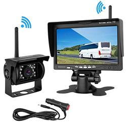 "LeeKooLuu Wireless Backup Camera 7"" Monitor System for RV/SU"