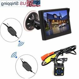 Wireless Car Auto 5 inch Monitor Suction Cup/Dash + Backup C