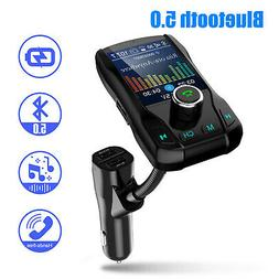 Car Bluetooth FM Transmitter Kit Dual USB Charger Radio MP3