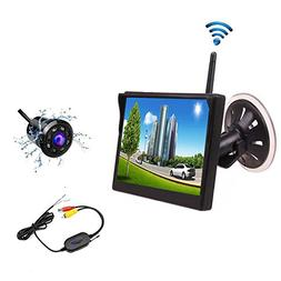 Camecho Wireless Car Backup Camera System 5 Inch New Version