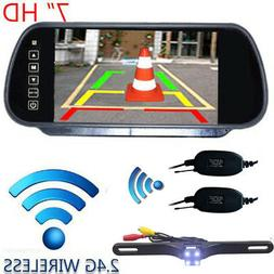 "WIRELESS CAR BUS TRUCK REAR VIEW KIT 7"" LCD MIRROR MONITOR +"