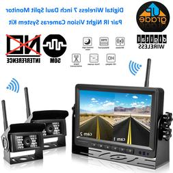 Wireless Digital Backup Camera with Monitor System Split Scr