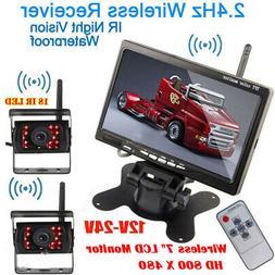 "Digital 2 X Wireless Rear View Backup Camera + 7"" HD Monitor"