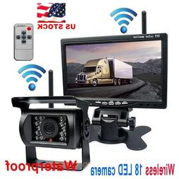 Wireless IR Rear View Back up Camera Night Vision System+7""